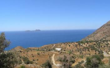 picture of pagi223  Sea facing plot with approved plan for villa and pool near Agia Galini